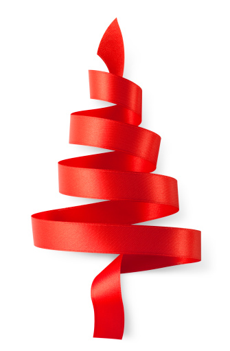 Silk「Red ribbon in the shape of a Christmas tree」:スマホ壁紙(2)