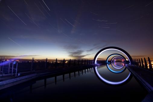 star sky「星トレイルズ Falkirk の輪」:スマホ壁紙(19)