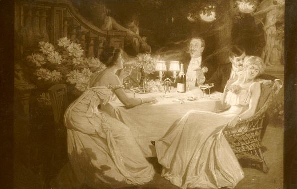 Edwardian Style「Salon 1910 (Ludovic Alleaume) After Dinner」:写真・画像(7)[壁紙.com]