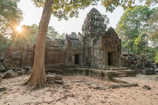 Ta Prohm Temple「Temple's gate in Angkor Wat complex, Siem Reap, Cambodia, Asia」:スマホ壁紙(9)