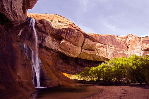 Geology「Calf Creek falls, Utah」:スマホ壁紙(7)