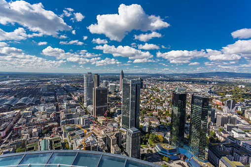 Hesse - Germany「Germany, Frankfurt, view to the city with financial district from Maintower」:スマホ壁紙(13)