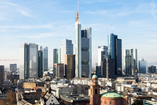 Financial Building「Germany, Frankfurt, Hesse, Skyline」:スマホ壁紙(13)