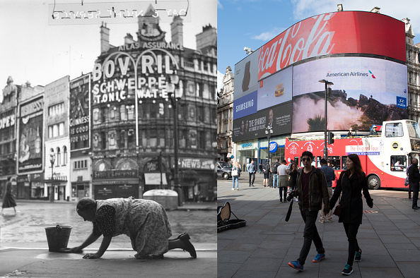 Composite Image「A Look At London's Soho - Then And Now」:写真・画像(5)[壁紙.com]
