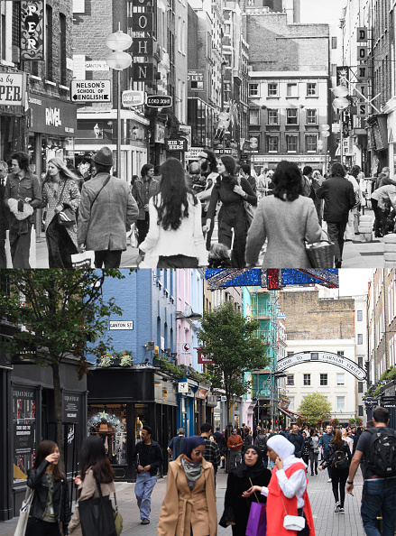 Composite Image「A Look At London's Soho - Then And Now」:写真・画像(2)[壁紙.com]