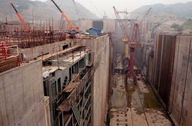 Building of Three Gorges Dam in China:ニュース(壁紙.com)
