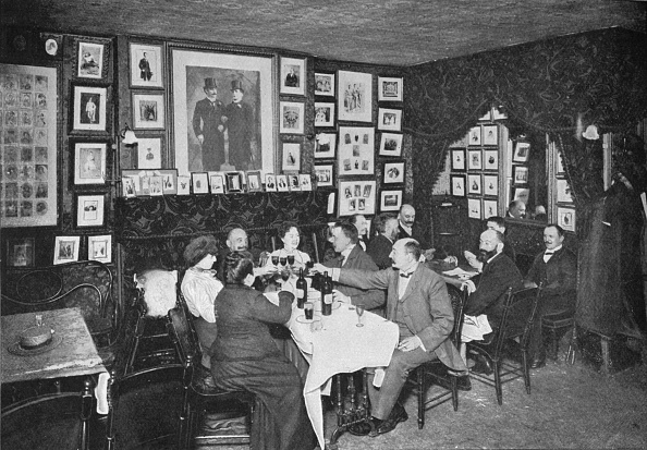 Organized Group「In the Artistes' Club', London, c1901 (1901)」:写真・画像(13)[壁紙.com]