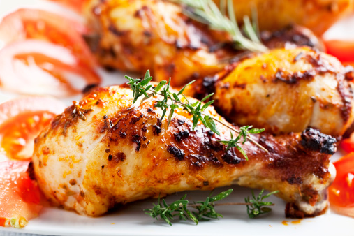 Grilled Chicken「roast chicken legs and rosemary」:スマホ壁紙(19)
