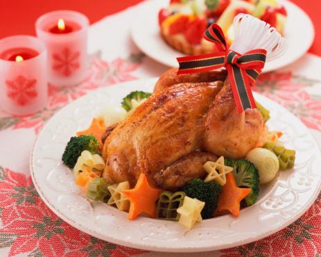 Plate「Roast chicken on plate」:スマホ壁紙(18)