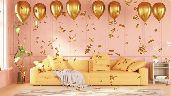 Balloon「Party Concept Balloons in Living Room」:スマホ壁紙(5)