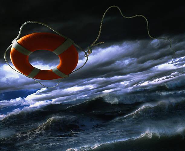 Life ring over rough sea (Digital Composite):スマホ壁紙(壁紙.com)