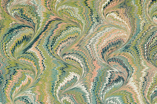 A marbled paper with visible curve pattern :スマホ壁紙(壁紙.com)