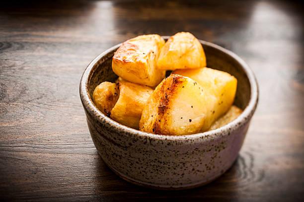 Bowl of roasted potatoes:スマホ壁紙(壁紙.com)