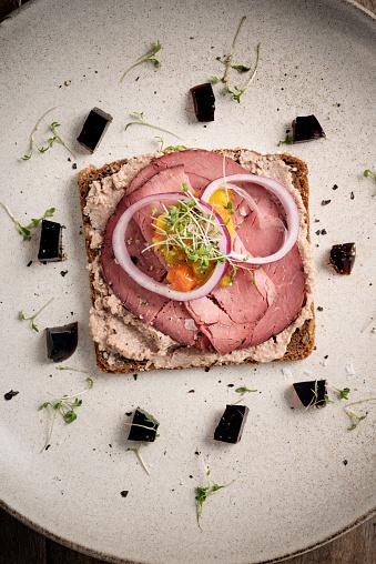 Danish Culture「Roast Beef Smorrebrod Sandwich」:スマホ壁紙(3)