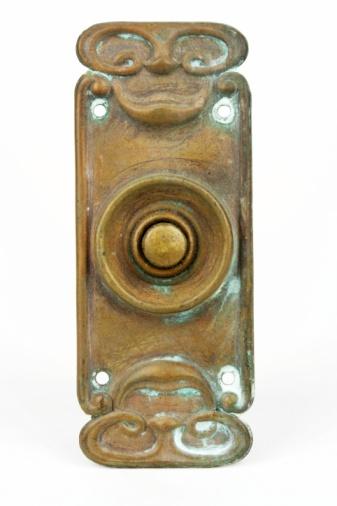 Start Button「Brass Art Deco Electric Bell Push」:スマホ壁紙(12)