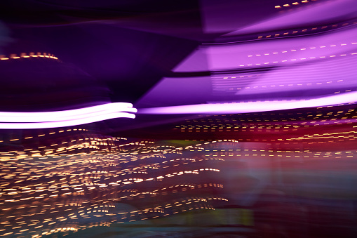 Disco Lights「Colorful lights in movement, long exposure」:スマホ壁紙(4)