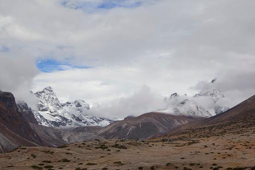 Khumbu「Himalayan view from Dinboche, Nepal」:スマホ壁紙(5)