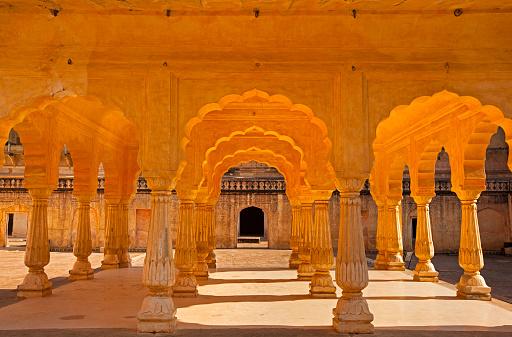 Rajasthan「Baradhari Pavillion at Man Singh Palace Square in Amber Fort, Jaipur」:スマホ壁紙(10)