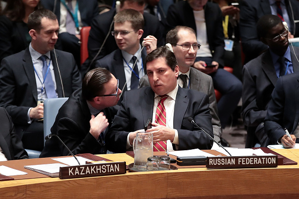 United Nations Building「United Nations Security Council Meets To Discuss Recent U.S. Airstrikes In Syria」:写真・画像(6)[壁紙.com]
