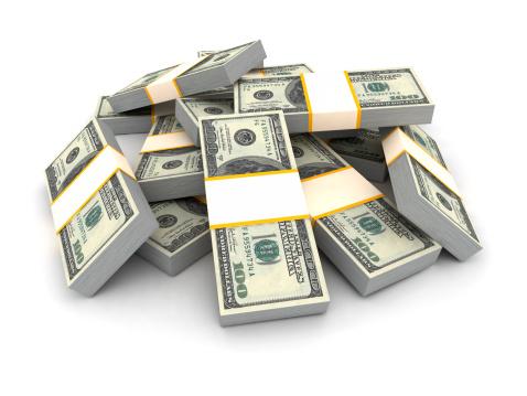 American One Hundred Dollar Bill「Stack of Dollar Bills.」:スマホ壁紙(16)