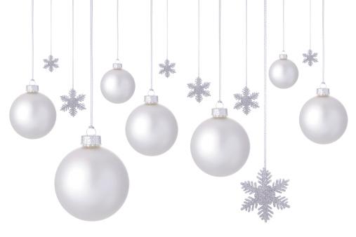 雪の結晶「ホワイトクリスマスボール。」:スマホ壁紙(1)