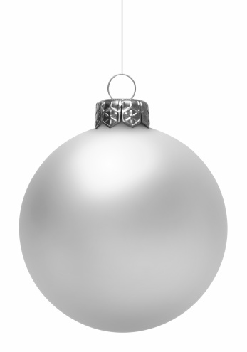 Christmas Decoration「White Christmas Ball (Isolated)」:スマホ壁紙(8)