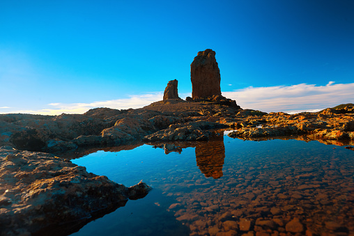 Atlantic Islands「Roque Nublo view in the sunset time」:スマホ壁紙(4)