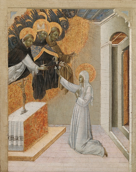 Siena - Italy「Predella Panel From An Altarpiece: St. Catherine Of Siena Invested With The Dominican Habit」:写真・画像(6)[壁紙.com]