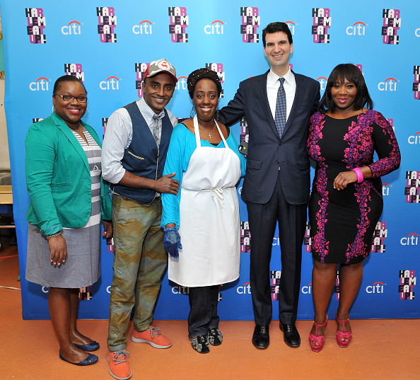 """Footpath「Citi Hosts A """"Breakfast Party"""" celebrating the Harlem EatUp! At East Harlem Scholars Academies With Harlem EatUp! Co-founder Marcus Samuelsson, Bravo Host Bevy Smith And Food Business Pathways Graduate Jaynine Taylor」:写真・画像(6)[壁紙.com]"""