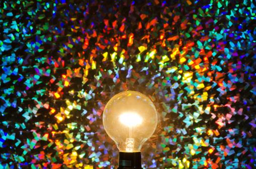 虹「カラフルな抽象的な背景と光」:スマホ壁紙(17)