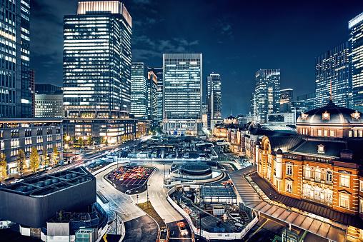 Marunouchi「Tokyo, Japan Cityscape at Tokyo Station」:スマホ壁紙(9)