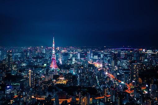 Minato Ward「Tokyo, Japan Skyline」:スマホ壁紙(15)