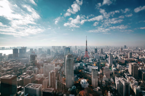 Tokyo, Japan Skyline:スマホ壁紙(壁紙.com)