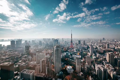Japanese Culture「Tokyo, Japan Skyline」:スマホ壁紙(3)