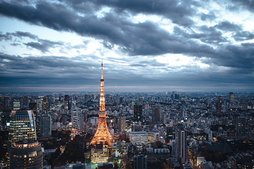 Minato Ward「Tokyo, Japan Skyline」:スマホ壁紙(16)