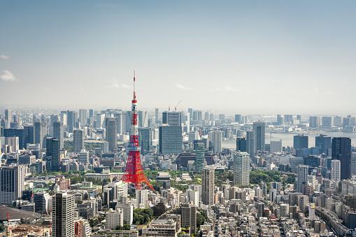 Minato Ward「Tokyo, Japan Skyline」:スマホ壁紙(9)