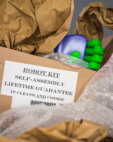 A Helping Hand「Robotic hand emerging from inside a Robot Kit Box」:スマホ壁紙(16)