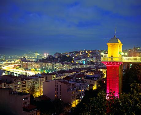 Izmir「Skyline of Izmir with the Asansor (Elevator)」:スマホ壁紙(15)