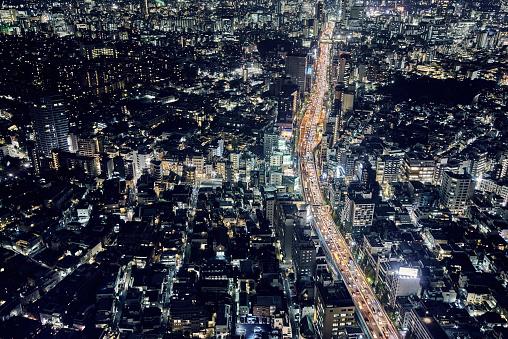 Tokyo - Japan「Skyline of Tokyo, Japan」:スマホ壁紙(6)