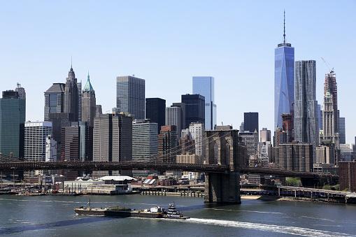 New York City「Skyline of Lower Manhattan with East River」:スマホ壁紙(3)