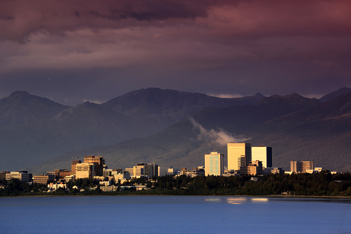 Anchorage - Alaska「Skyline of downtown Anchorage」:スマホ壁紙(5)