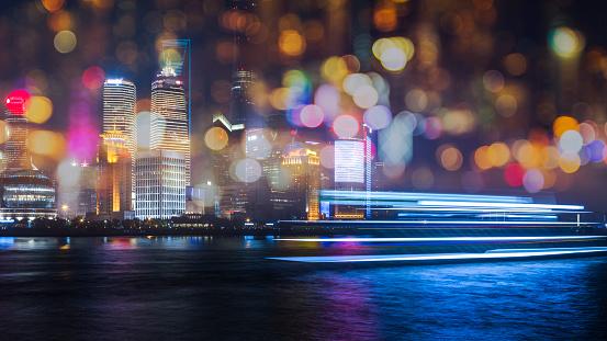 Defocused「skyline of shanghai china」:スマホ壁紙(5)