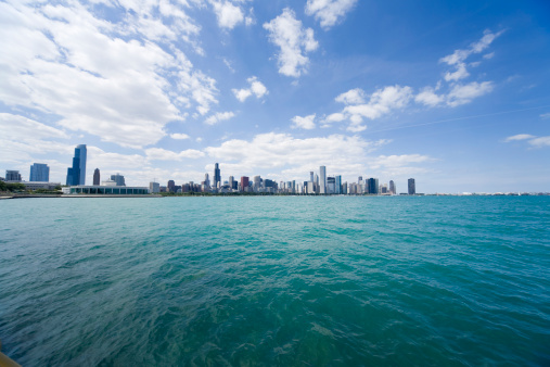 Great Lakes「Skyline of Chicago from Lake Michigan, Illinois, USA」:スマホ壁紙(3)
