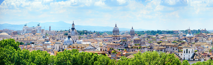 Cathedral「Skyline of Rome at sunny day」:スマホ壁紙(1)