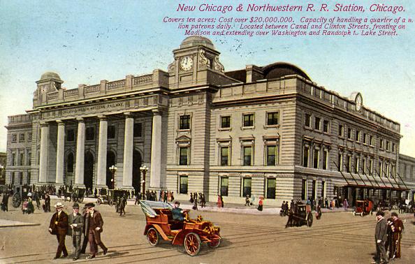 City Life「New Chicago and Northwestern R. R. Station...」:写真・画像(1)[壁紙.com]