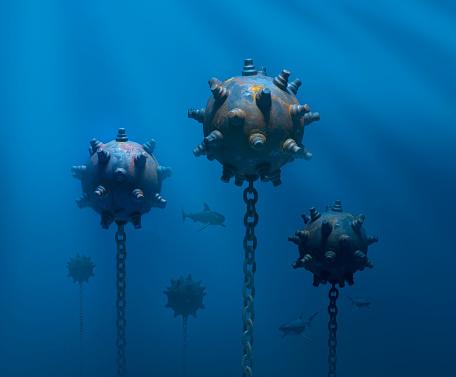 Military「Mines under water」:スマホ壁紙(18)