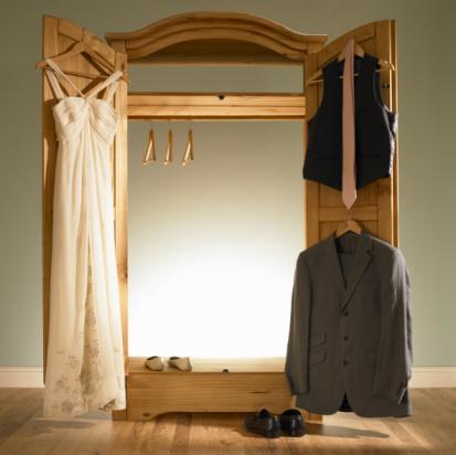 Tuxedo「Wedding garments hanging on wardrobe.」:スマホ壁紙(15)