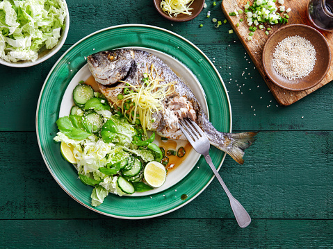 Soy Sauce「Grilled sea bream with vegetables」:スマホ壁紙(15)