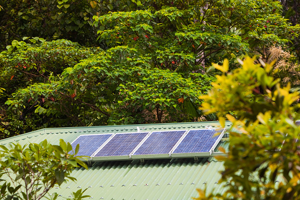 Bathroom「A toilet block with solar panels on the roof in the Daintree rainforest in the North of Queensland, Australia, which is the oldest continuously forested rainforest area on the planet.」:写真・画像(13)[壁紙.com]