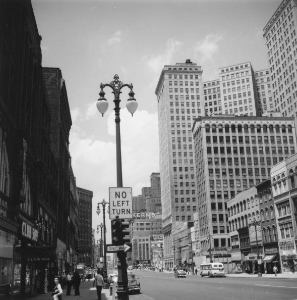Downtown District「Detroit Cityscape」:写真・画像(12)[壁紙.com]
